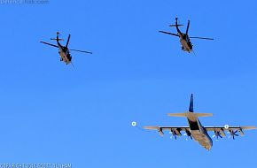 USAF HC-130J Combat King II Tanker and HH-60 Pave Hawk Helicopter
