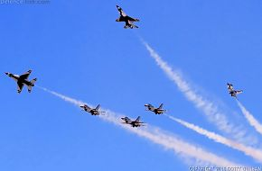 USAF Thunderbirds Flight Demonstration Team, F-16 Viper Fighter Aircraft