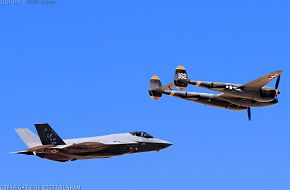 USAF Heritage Flight F-35A Lightning II and P-38 Lightning