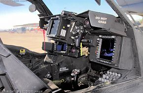 US Army AH-64D Apache Cockpit Gunners Station