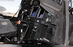 US Army AH-64D Apache Cockpit Pilots Station