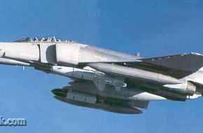 F-4E-2020 Terminator loaded with a Popeye 1 AGM and data-link pod