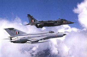Mig-21 and Jaguar IS
