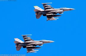 USAF F-16 Wild Weasel Electronic Attack Aircraft