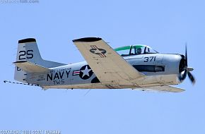 US Navy T-28 Trojan Trainer Aircraft