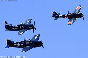 A6M Zero F6F Hellcat & F8F Bearcat Fighters