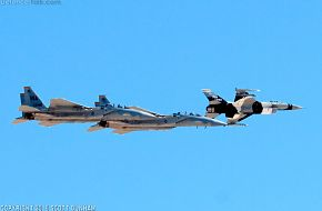 USAF F-16 Aggressor & F-15D Eagle Air Superiority Fighters