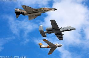 USAF Heritage Flight A-10 F-86 & F-4