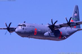 USAF C-130J Hercules Fire Fighting/Transport Aircraft