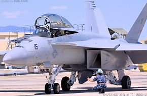 US Navy F/A-18F Super Hornet Fighter