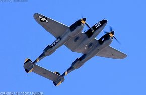US Army Air Corps P-38 Lightning Fighter Aircraft