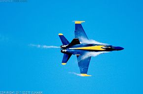 US Navy Blue Angels Flight Demonstration Team F/A-18C Hornet Fighter