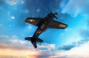 US Navy F8F Bearcat Fighter Aircraft