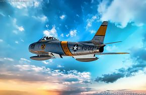 USAF F-86 Sabre Fighter Aircraft
