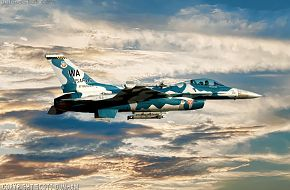 USAF F-16 Falcon Aggressor Squadron Fighter