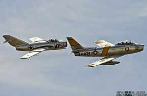 MiG-15 Fagot and F-86 Sabre Fighter Aircraft