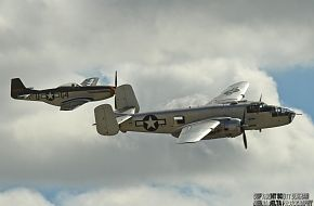 USAAC B-25 Mitchell and P-51 Mustang