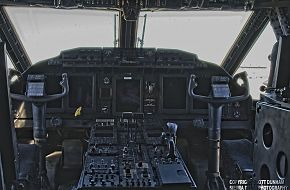 US Army Special Operations C-27J Spartan Combat Transport Aircraft Cockpit