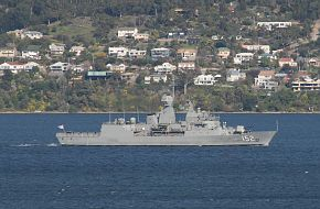 HMAS Warramunga In Derwent River Approaching Hobart 14 September 2018 3