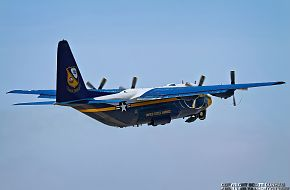 US Navy Blue Angels C-130T Hercules Transport - Fat Albert
