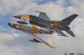 USAF Heritage Flight F-16 Viper and F-86 Sabre