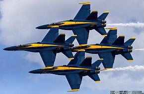 US Navy Blue Angels Flight Demonstration Team-F/A-18 Hornet Fighter Aircraft