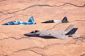 T-38C Talons Fly With F-35 Fighter Jet