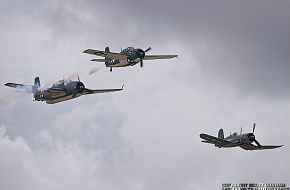 US Navy TBM Avenger, F4F Wildcat and F4U Corsair