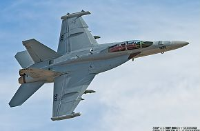 US Navy EA-18G Growler Electronic Warfare Aircraft