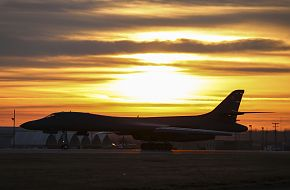 B-1B Lancer During Bomber Agile Combat Employment Exercise