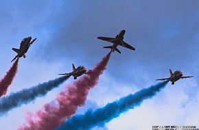 RAF Red Arrows Flight Demonstration Team-Hawk T1A Jet Aircraft