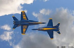 US Navy Blue Angels F/A-18 Hornet Fighter