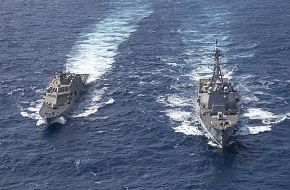 USNavy USS Detroit LCS 7 And USS Gridley DDG 101