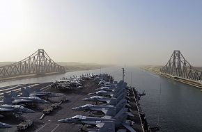USS Harry S Truman (CVN 75) Transits The Suez Canal