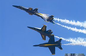 US Navy Blue Angels Flight Demonstration Team F/A-18 Hornet Fighter