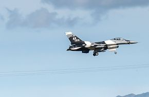F-16 Fighting Falcon approaches for a landing
