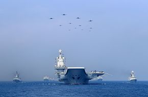 Chinese Navy Warships and Aircraft Carrier