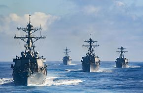 US Navy Destroyer Squadron 23 Transit The Pacific Ocean