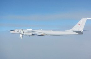 Tu-142 intercepted by RAF Eurofighter