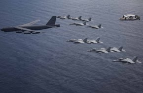 B-52 Bomber from Barksdale Air Force over South China Sea