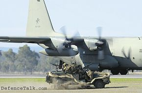 "RAAF ADG ""Gun Buggy"" after exiting Hercules aircraft."