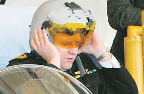 The first Joint Helmet Mounted Cueing System fitted to a RAAF Hornet.