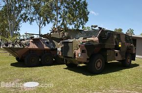 Pics of Australian Army ASLAV's and Bushmasters about to deloy to Iraq