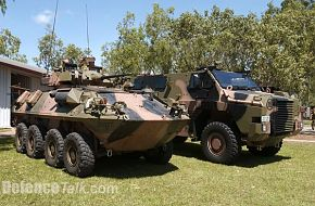 2nd Pic of Australian Army ASLAV and Bushmaster vehicles deploying to Iraq
