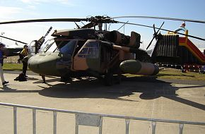 5th Aviation Regiment S-70A9 Blackhawk Helo at Avalon Airshow