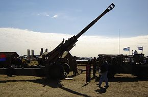 A Royal Australian Artillery M198 155mm Howitzer at the Avalon Airshow