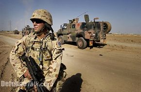 Australian Infanty soldier and Bushmaster IMV on ops in Iraq