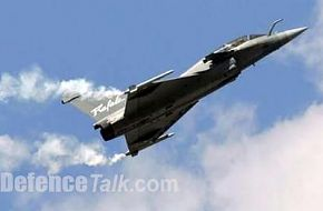 French Dassault Aviation Jet fighter Rafale at Paris Air Show 2005
