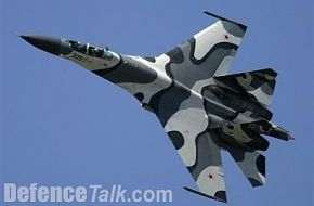 Russian Sukhoi jetfighter at Paris Airshow 2005