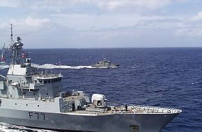 RNZN Frigates on exercise